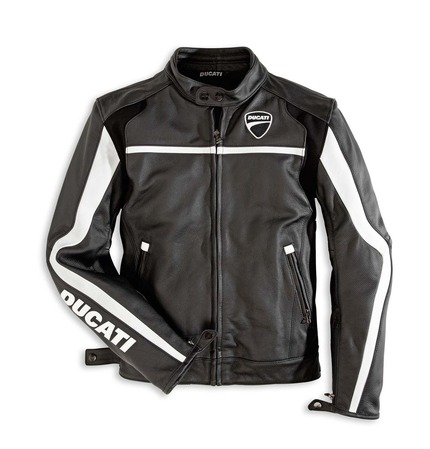 Ducati Twin Leather Jacket - Black - Size 58 (CLOSEOUT) picture