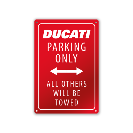 RED PARKING METAL SIGN picture