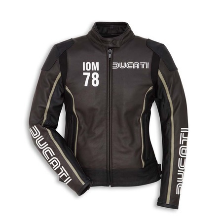 Ducati IOM78 Women's Leather Jacket - Black - Size 42 picture