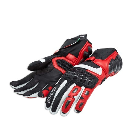 Ducati Performance C2 Leather Gloves - Red - Size Small picture