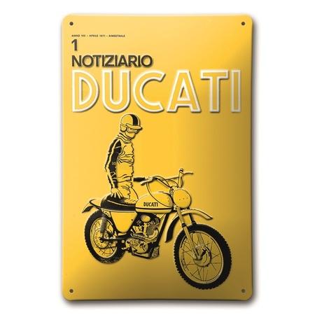 Ducati Notiziario Metal Sign picture