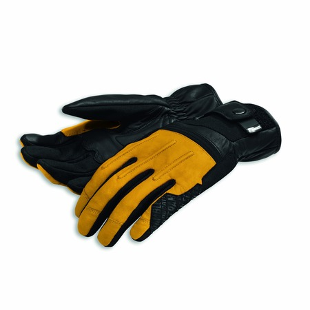 Ducati Street Master C2 Leather gloves - Yellow - Size Large picture