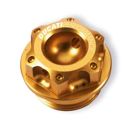 Ducati Billet Aluminum Oil Plug - Gold picture