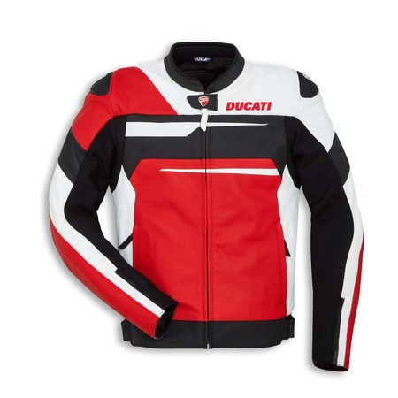 Ducati Speed Evo C1 Jacket - White & Red - Non-Perforated - Size 46 picture