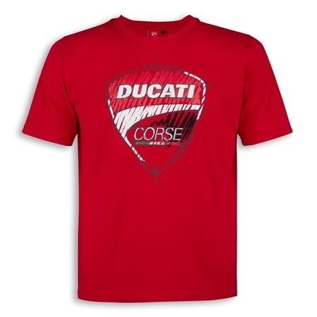 Ducati Corse Sketch T-Shirt - Red - Size Small picture