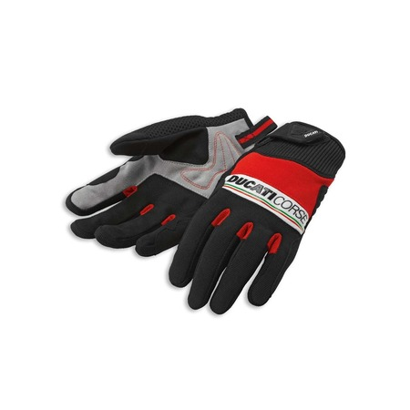 Ducati Pitlane 2 Fabric-Leather Gloves - Size Large picture