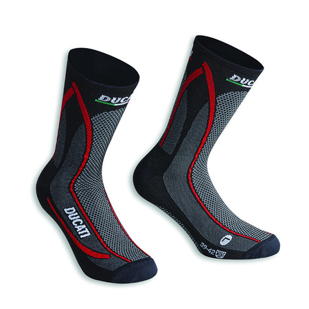 Ducati Cool Down Socks - Black Size 35-38 picture