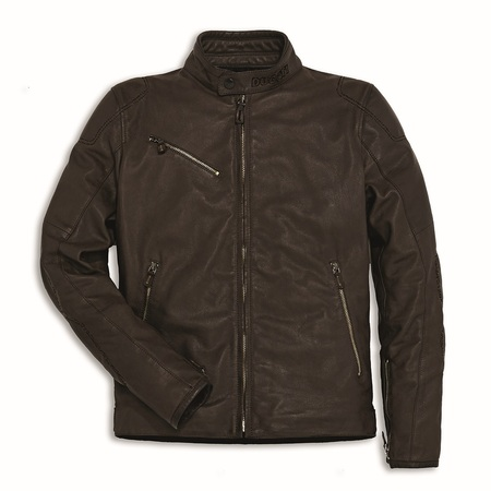 Ducati Downtown Leather Jacket - Brown - Size 54 picture