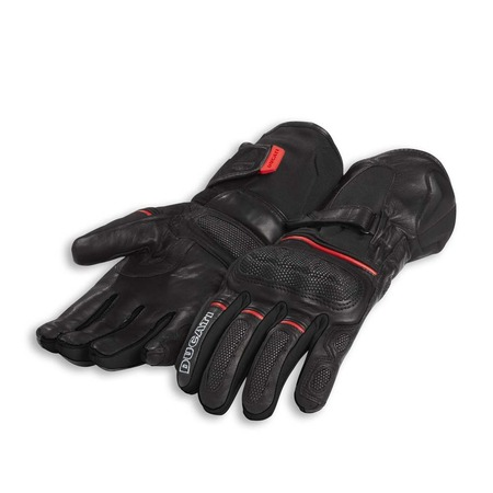 Ducati Strada C4 Fabric-Leather Gloves - Size Small picture