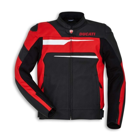 Ducati Speed EVO C1 Jacket - Red & Black - Non-Perforated - Size 50 picture