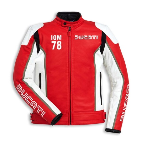 Ducati IOM78 Non-Perforated Leather Jacket - Red - Size 54 picture