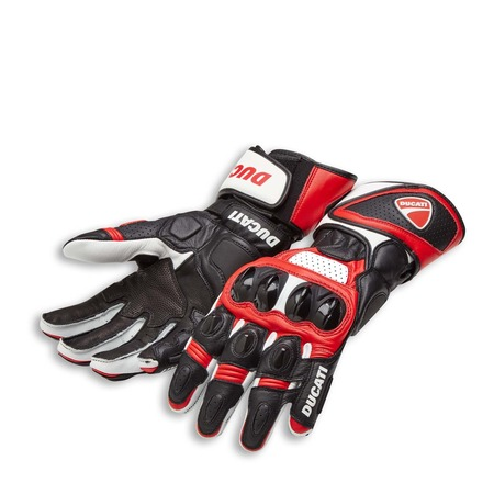 Ducati Speed Evo C1 Gloves - Red - Size Small picture