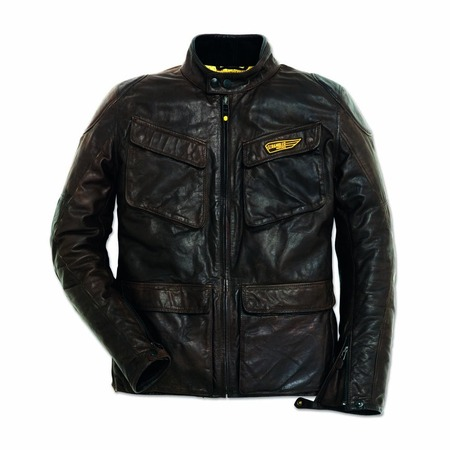 Ducati Quattrotasche Leather Jacket - Size 52 picture