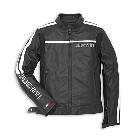 Ducati 80's Leather Jacket-Black Perforated - Size 48 (CLOSEOUT) picture