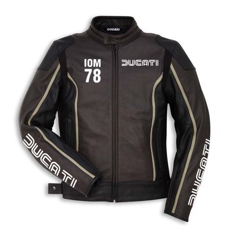 Ducati IOM78 Perforated Leather Jacket - Dark Brown - Size 54 picture