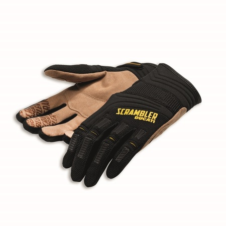 Ducati Overland Textile Gloves - Black and Beige - Size Large picture