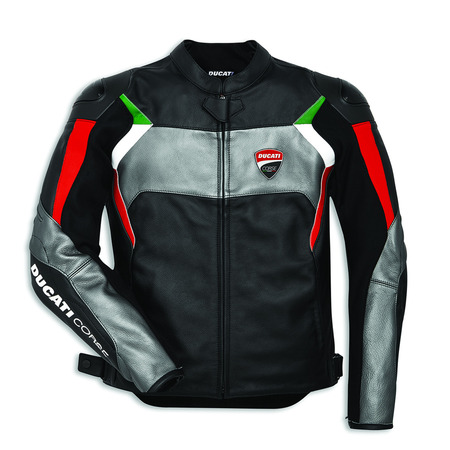 Ducati Corse C3 Leather Jacket Blk&Grey - Size 52 picture