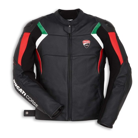Ducati Corse C3 Non-Perforated Leather Jacket - Black - Size 54 picture