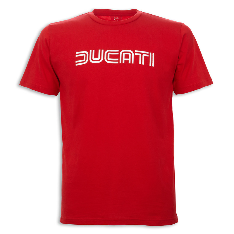 apparel men all ducati ducatiana 80 39 s men 39 s t shirt red. Black Bedroom Furniture Sets. Home Design Ideas