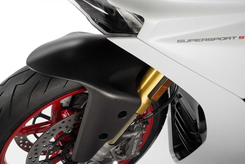 Accessories Supersport Carbon Fiber Matt Carbon Front Mudguard