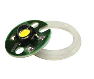 1-Watt LED Replacement Bulb - Yellow - HR* (qty 1) picture