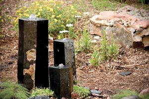 """3 Semi-Polished Stone Basalt Columns - Sm 12""""H,Med 20""""H,Lrg 27""""H picture"""