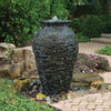Medium Stacked Slate Urn Landscape Fountain Kit