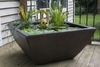 "22"" Square Textured Gray Slate Patio Pond"