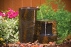 Set Of 3 Keyed Basalt Columns