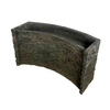 Stacked Slate Spillway Wall 19-inch