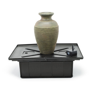 Green Slate Amphora Vase Fountain Kit picture