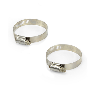 """Stainless Steel Hose Clamp (2) 1.5"""" to 2"""" picture"""