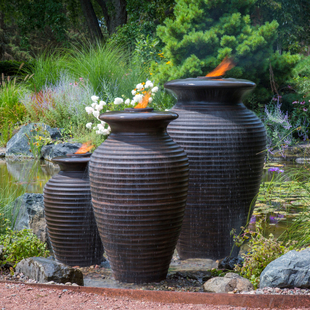 Rippled Urn Fountain - Large picture