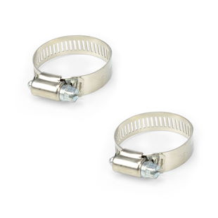 """Stainless Steel Hose Clamp (2) 1"""" to 1.5"""" picture"""