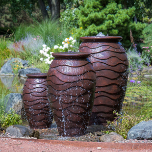 Scalloped Urn Fountain - Small picture