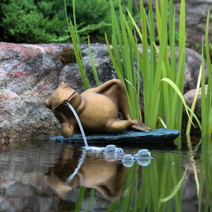 Lazy Frog on Lily Pad Spitter picture