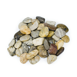 Mixed River Pebbles - 22 lbs / 10 kg picture