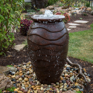 Scalloped Urn Landscape Fountain Kit - Medium picture