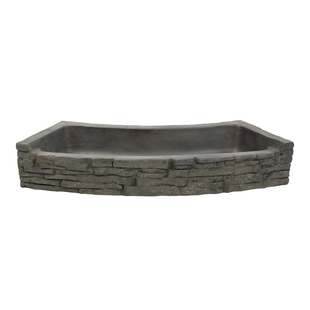 Rear-Spill Curved Stacked Slate Topper picture