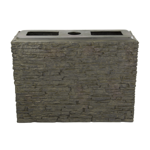 Large Straight Stacked Slate Wall Base picture
