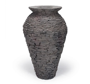 Stacked Slate Urn Fountain - Small picture