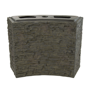 Large Curved Stacked Slate Wall Base picture