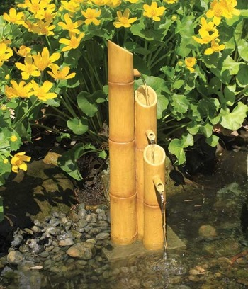 Pouring Three-Tier Bamboo Fountain with pump picture