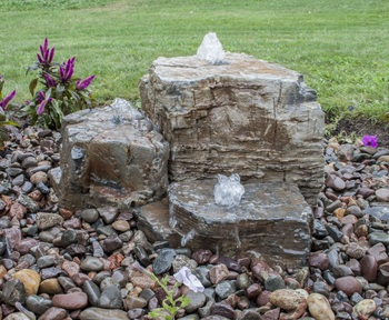 Natural Pagoda Fountain Stone - Set of 3 (Small, Med, Large) picture