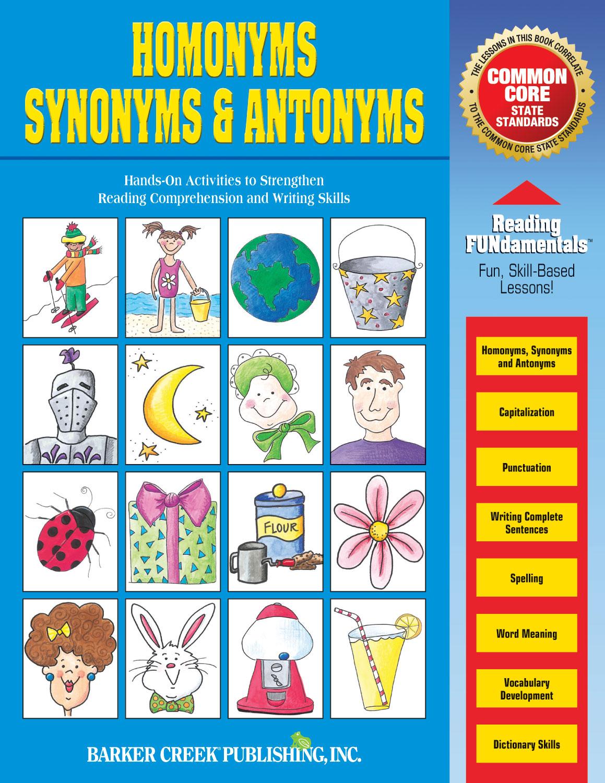 Homonyms, Synonyms & Antonyms (downloadable PDF) - Barker Creek