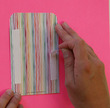 Peel & Stick! Stripes Library Pockets additional picture 1
