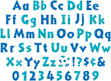 """NEW!! 4"""" Sea & Sky Letter Pop-Outs additional picture 1"""