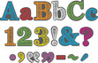 """4"""" Rainbow Chalkboard Letter Pop-Outs additional picture 1"""