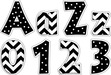 "4"" Chevron - Black Chevron & Dots Letter Pop-Outs additional picture 1"