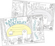 Color Me! Happy Birthday Awards & Bookmarks Set additional picture 1